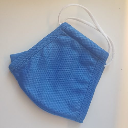 Royal Blue Reusable ANTI-FOG WATER RESISTANCE Fabric Face Mask 3-PLY photo review